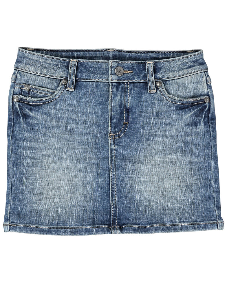 Wrangler Retro Girls' Classic Carmel Denim Skirt , Blue, hi-res