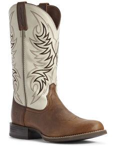 Ariat Men's Sport Horseman Western Boots - Round Toe, Brown, hi-res