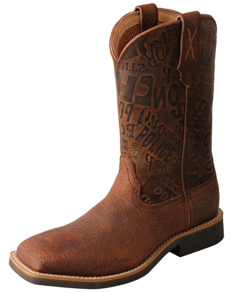 Twisted X Boys' Top Hand western Boots - Square Toe, Brown, hi-res
