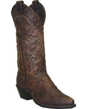 "Abilene Women's 12"" Nailhead Western Boots, Brown, hi-res"