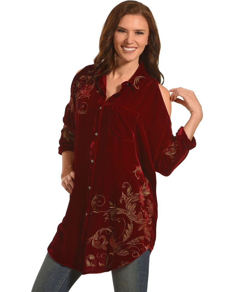 Tasha Polizzi Women's Red Bristol Tunic, Red, hi-res