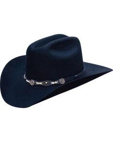 Jack Daniel's Men's Structured Wool Western Hat  , Black, hi-res