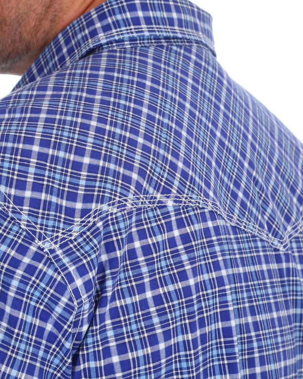 Wrangler 20X Men's Navy Competition Advanced Comfort Short Sleeve Western Shirt , Navy, hi-res
