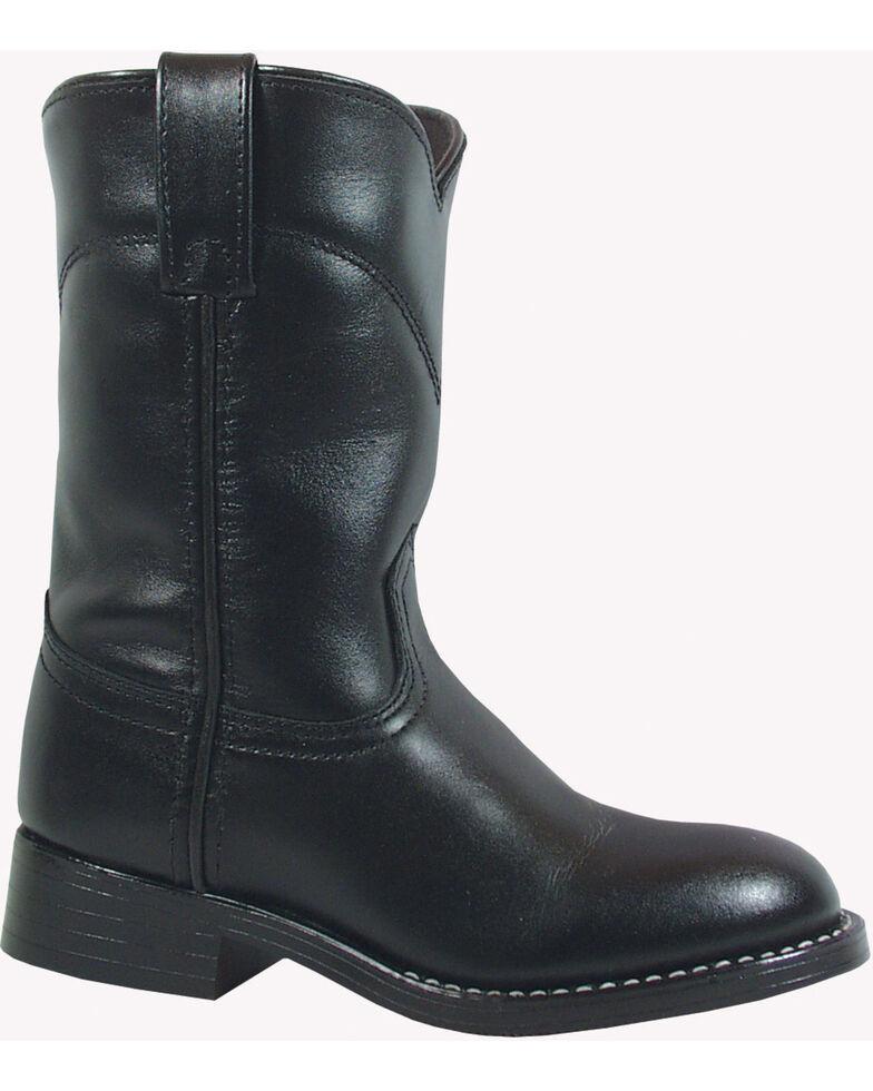 Smoky Mountain Kid's Roper Boots, Black, hi-res