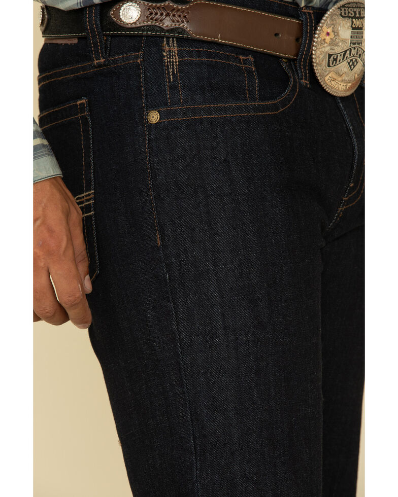 Cody James Men's Roadhouse Dark Rigid Relaxed Boot Jeans , Blue, hi-res