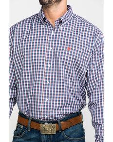 Cinch Men's Multi Tencel Plaid Button Long Sleeve Western Shirt , Purple, hi-res