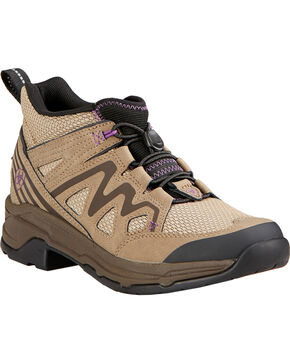 Ariat Women's MAXTRAX UL Lace-Up Riding Shoes, Light Brown, hi-res