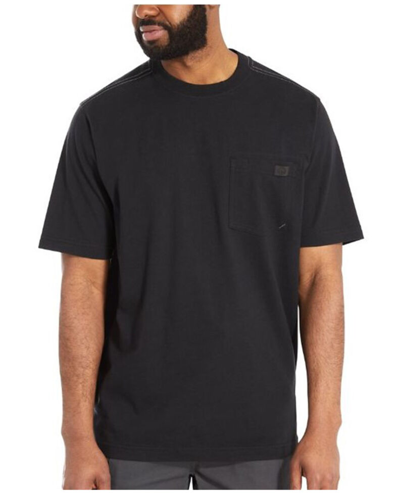 Wolverine Men's Solid Black Guardian Long Sleeve Work Pocket T-Shirt , Black, hi-res