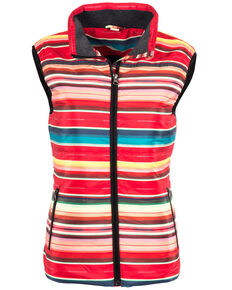 STS Ranchwear Women's Sealy Serape Micro Puff Vest , Red, hi-res