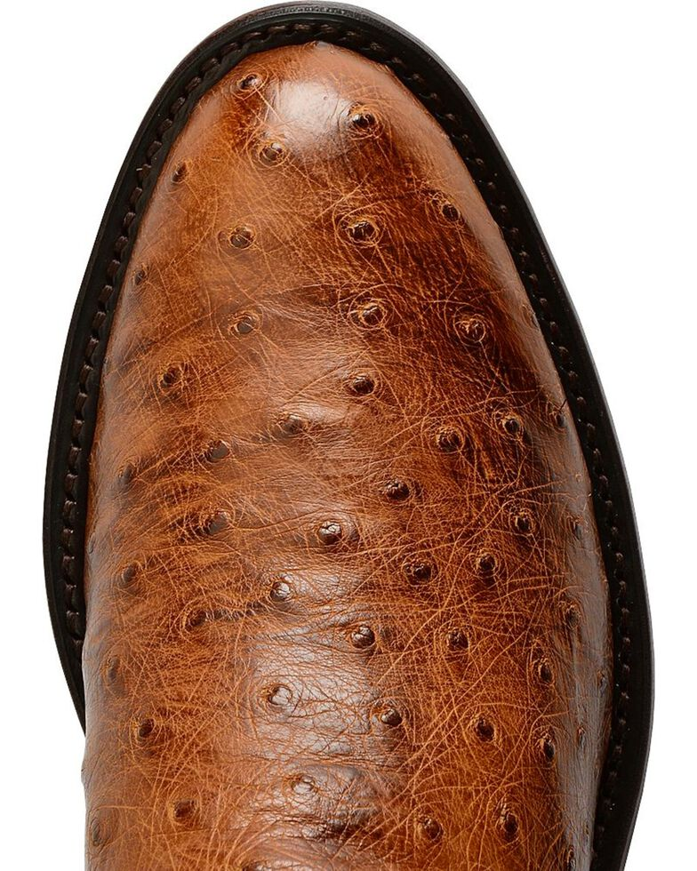Lucchese Men's Coleman Full Quill Ostrich Western Boots, Tan, hi-res