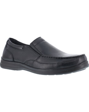 Florsheim Women's Slip-On Work Shoes - Steel Toe , Black, hi-res