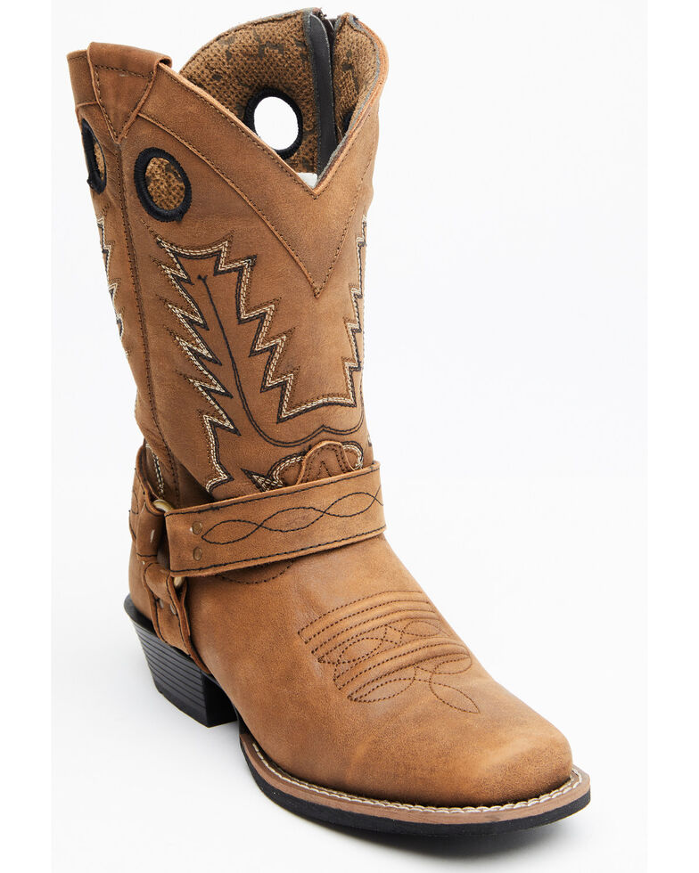 Smoky Mountain Women's Redwood Western Boots - Square Toe, Brown, hi-res