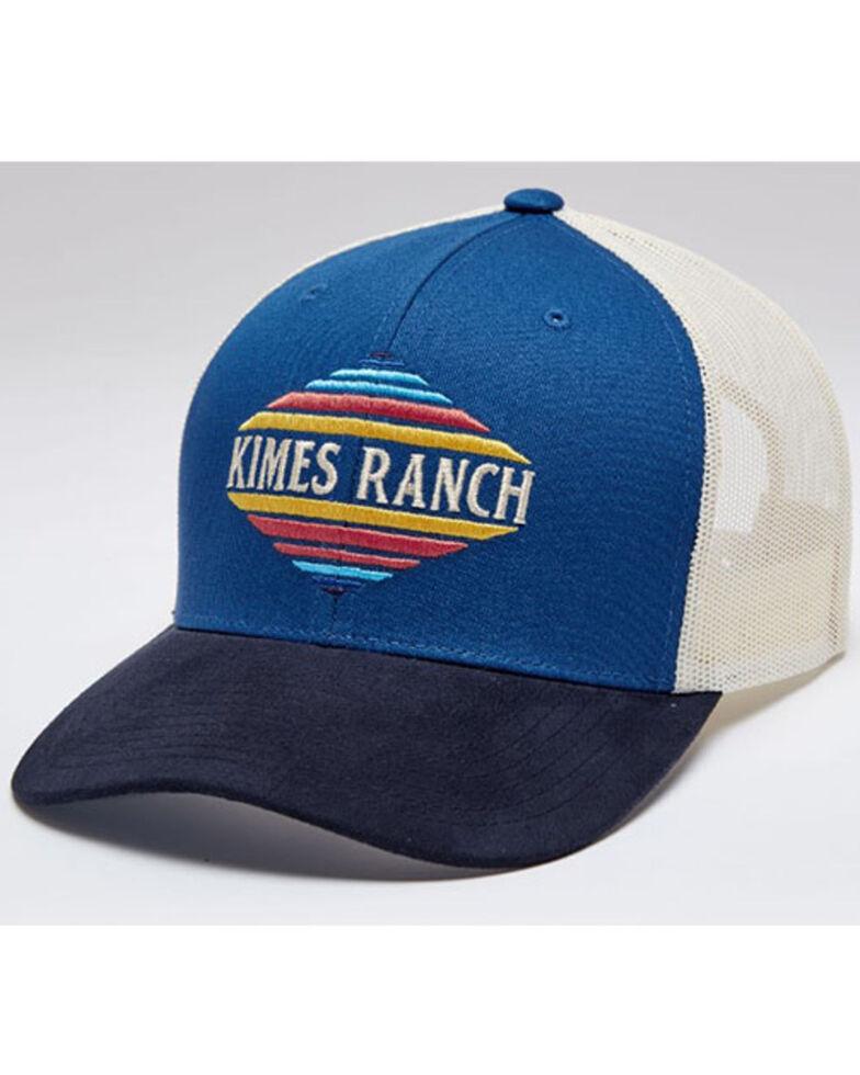 Kimes Ranch Men's Blue El Paso Logo Mesh-Back Trucker Cap , Blue, hi-res