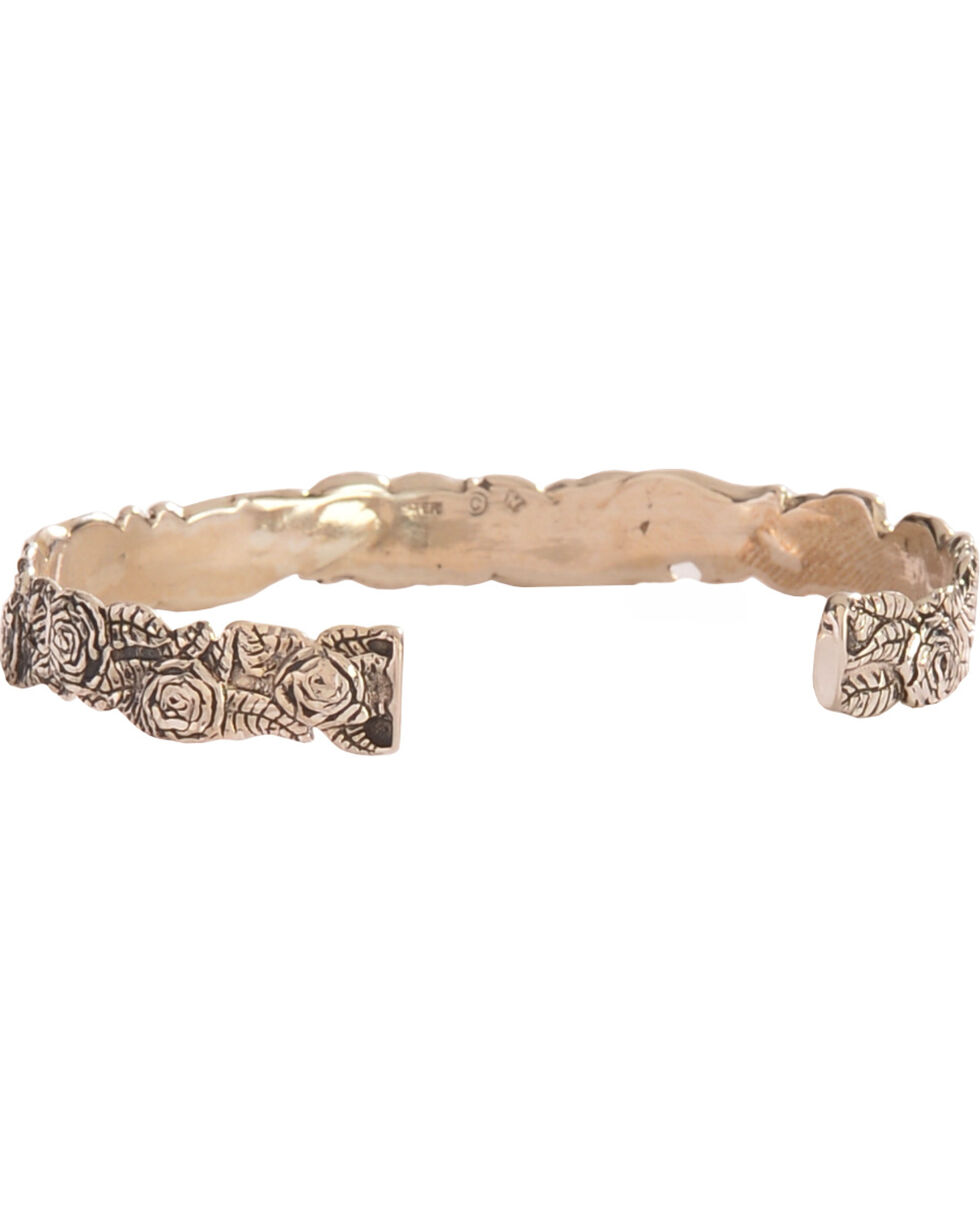 Silver Legends Women's Diamond Cut Rose Bracelet , Silver, hi-res