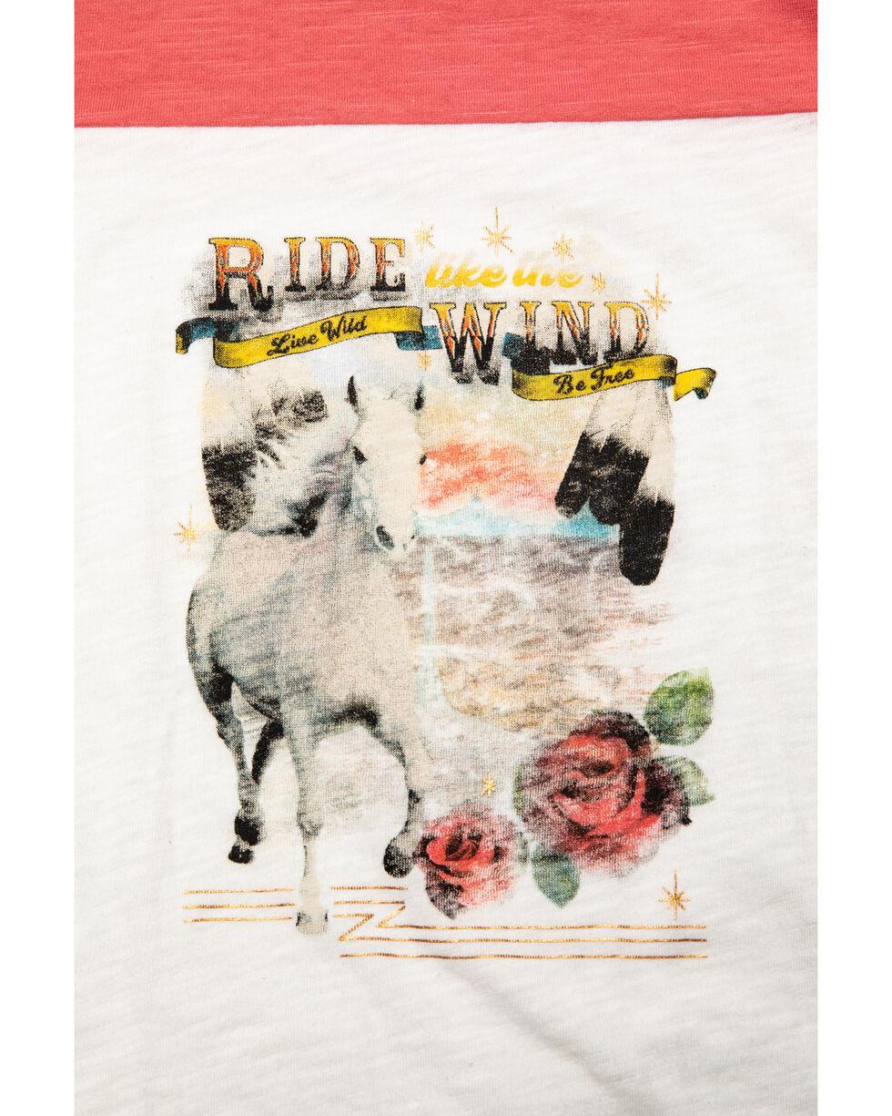 Shyanne Girls' Horse Graphic Raglan Tee, Ivory, hi-res