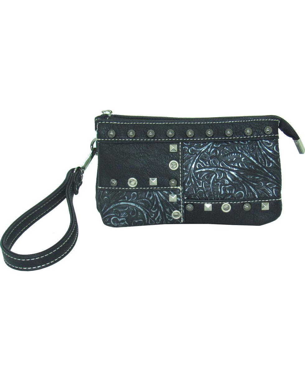 Savana Women's Faux Leather Clutch Patchwork Wristlet , , hi-res