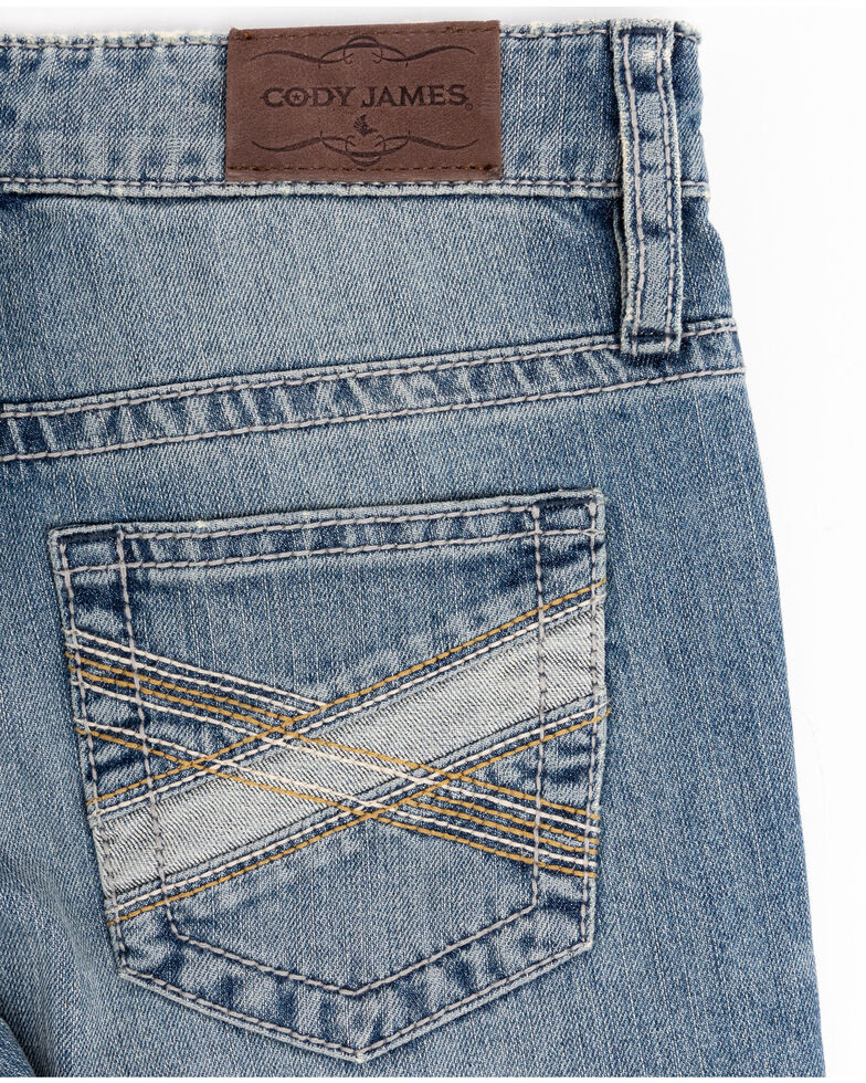 Cody James Boys' 8-20 Blue Shadow Stretch Slim Bootcut Jeans , Blue, hi-res