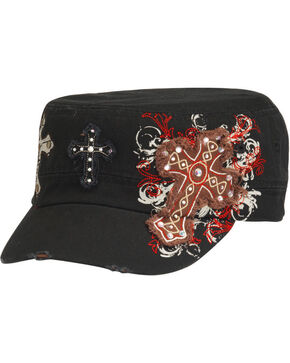 Blazin Roxx Cross Embroidered Cap, Black, hi-res