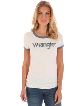 Wrangler Women's Ringer Graphic Tee, White, hi-res