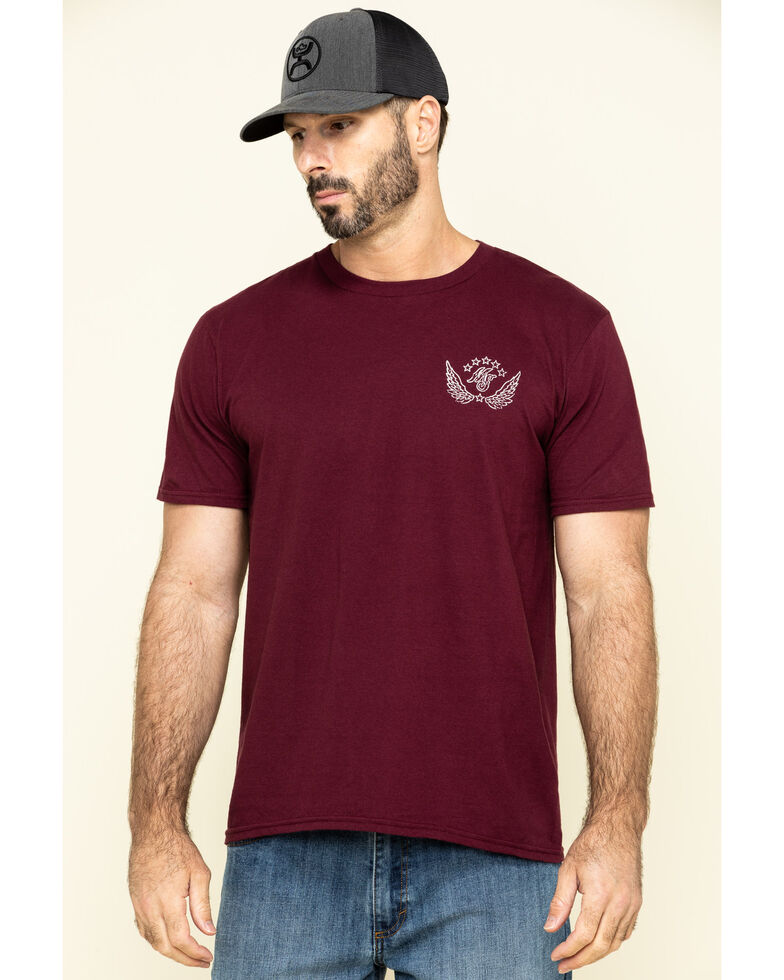 Moonshine Spirit Men's Shine Label Graphic T-Shirt , Maroon, hi-res