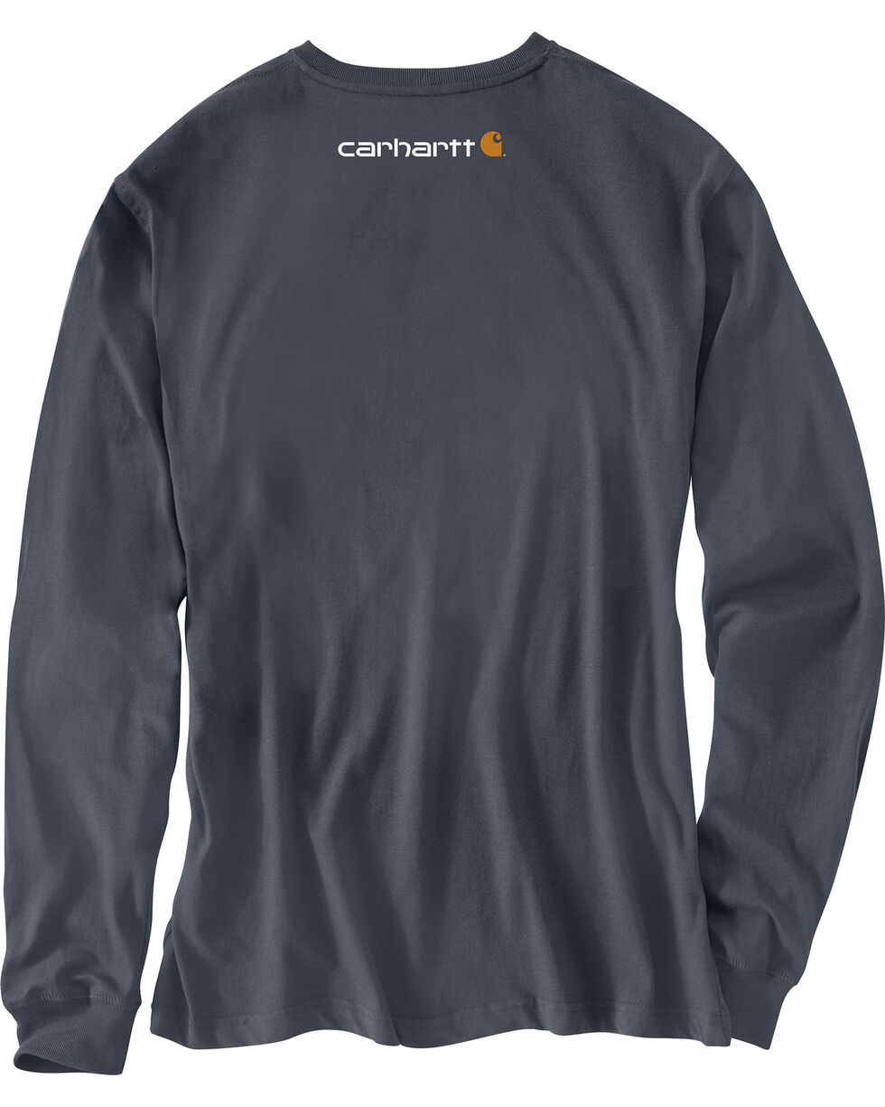 Carhartt Graphic Distressed Saw Long Sleeve T-Shirt , Blue, hi-res