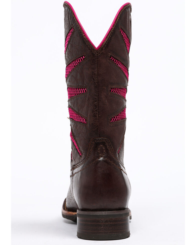 Shyanne Women's Xero Gravity Mesh Panel Western Boots - Square Toe, Brown/pink, hi-res
