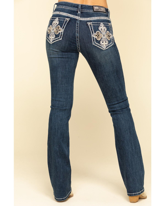 TB-3022 Grace in LA Girls Western Embellished Girl Size Jeans