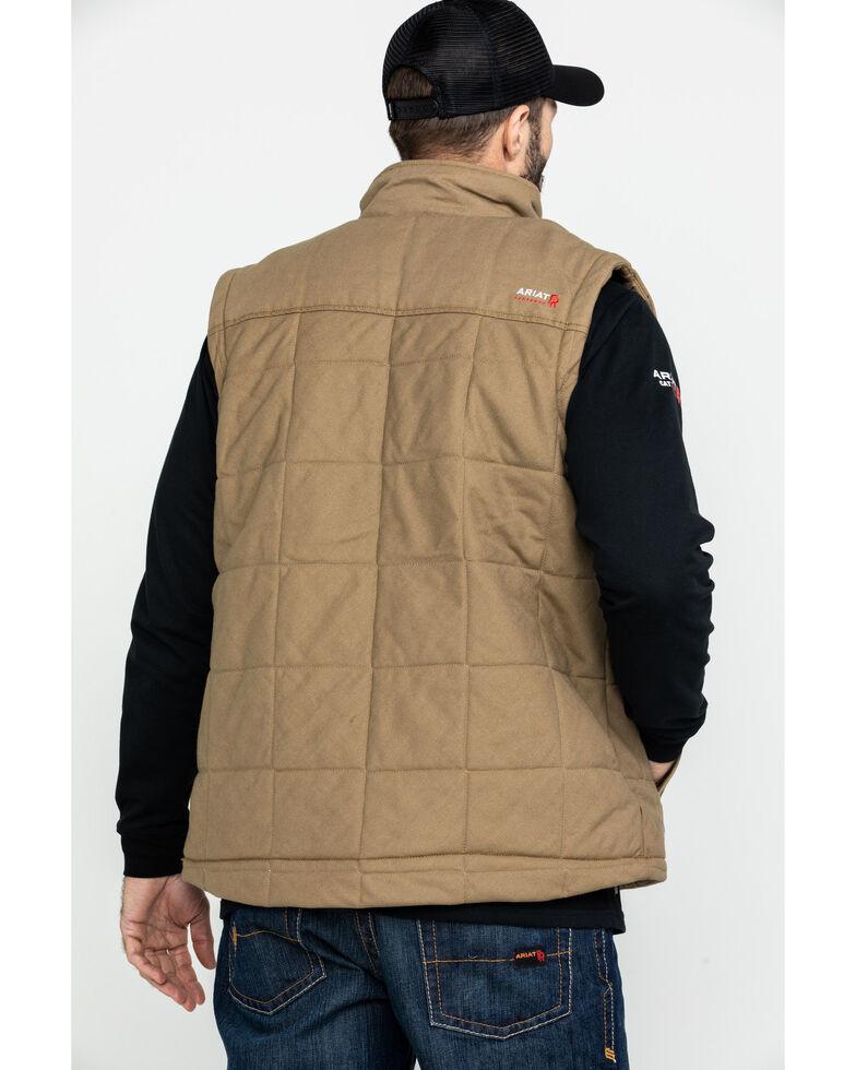 Ariat Men's FR Crius Insulated Work Vest , Beige/khaki, hi-res