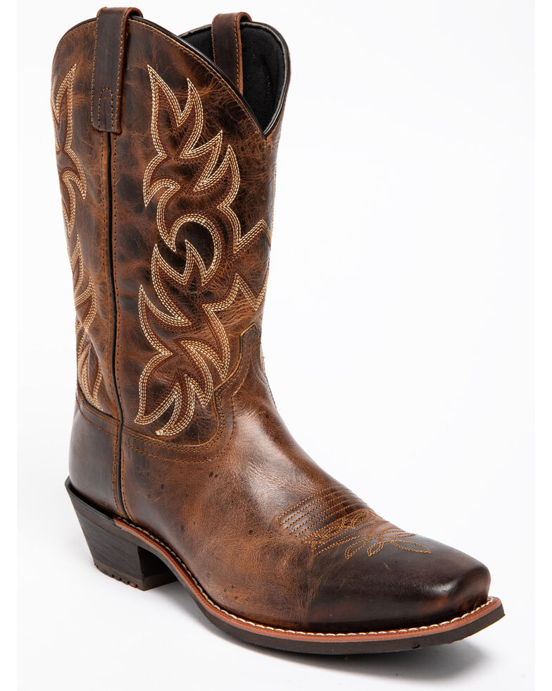 Laredo Men's Breakout Square Toe Western Boots, Rust, hi-res