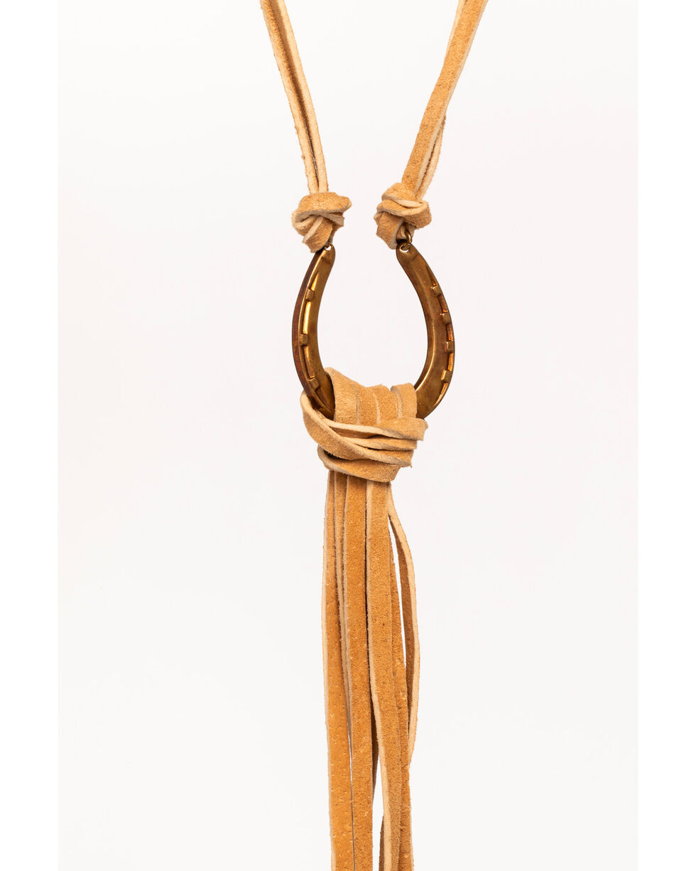Idyllwind Women's Lucky Charm Fringe Necklace, Tan, hi-res