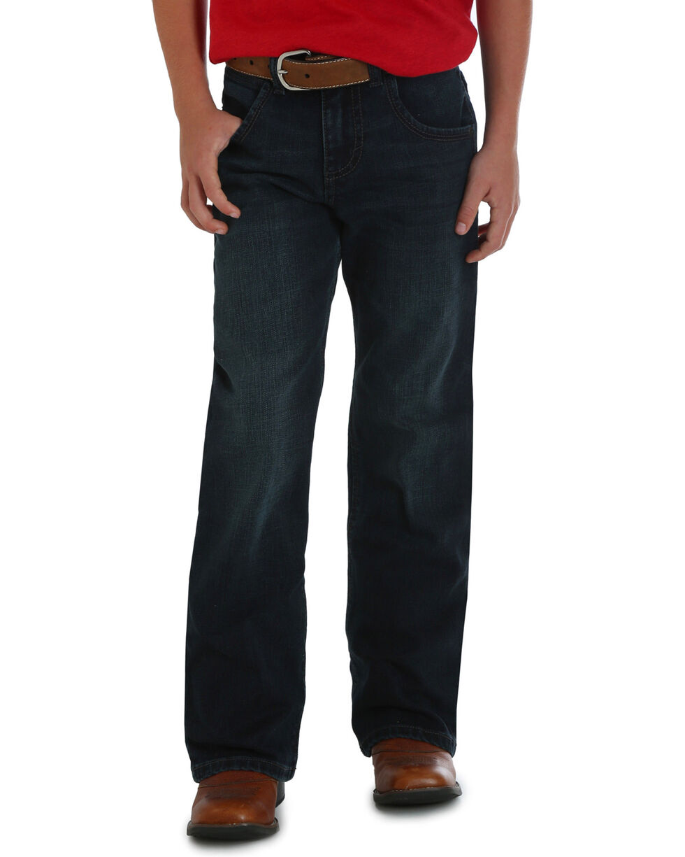 Wrangler Boys' (1T-7) Oakdale Retro Relaxed Boot Cut Jeans , Indigo, hi-res