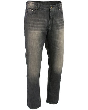 "Milwaukee Leather Men's Black 34"" Denim Jeans Reinforced With Aramid - Big, Black, hi-res"