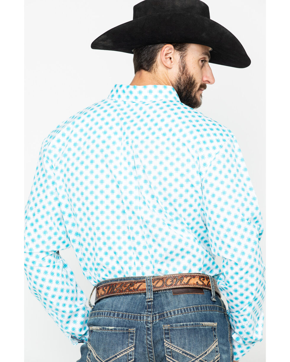 Cody Core Men's Astro Geo Long Sleeve Western Shirt , White, hi-res