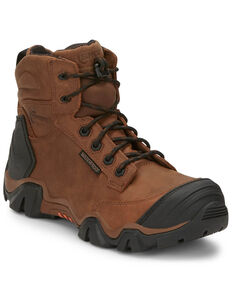 "Chippewa Men's Atlas 6"" Work Boots - Composite Toe, Brown, hi-res"
