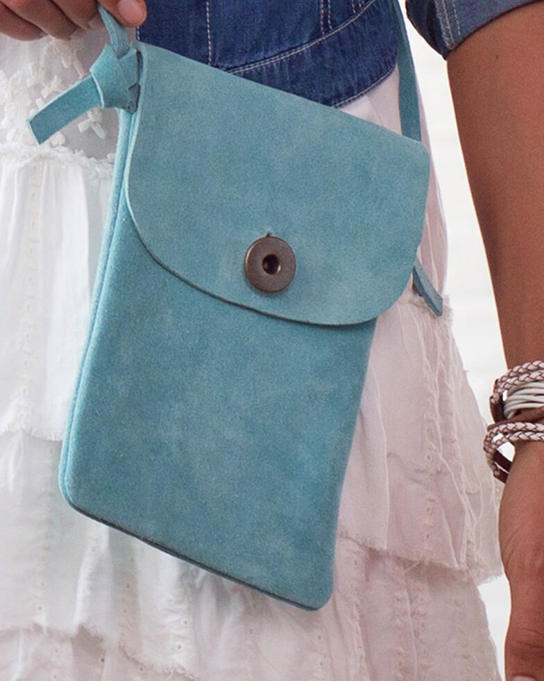 Ryan Michael Women's Sky Cross Body Bag , Light Blue, hi-res