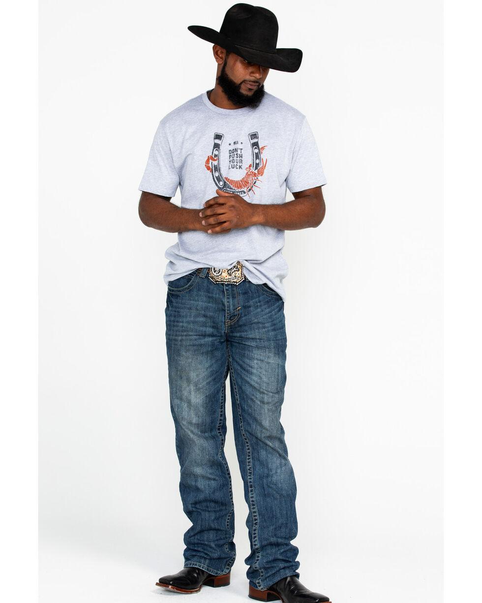 Cody James Men's Scorpion Horseshoe Graphic Print T-Shirt , Heather Grey, hi-res