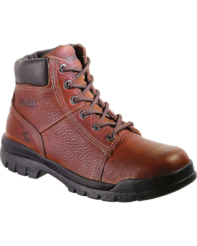 Wolverine Men's Slip Resistant Soft Toe Work Boots, Walnut, hi-res