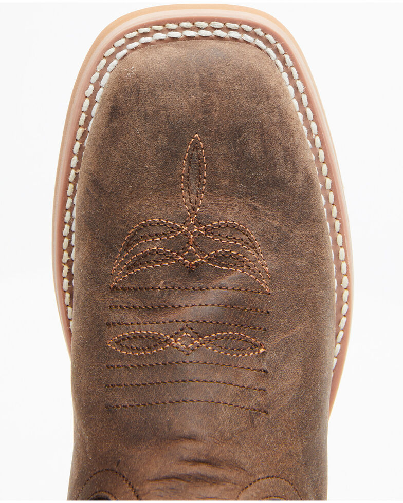 Horse Power Youth Boys' Sugared Tang Western Boots - Square Toe, Brown, hi-res