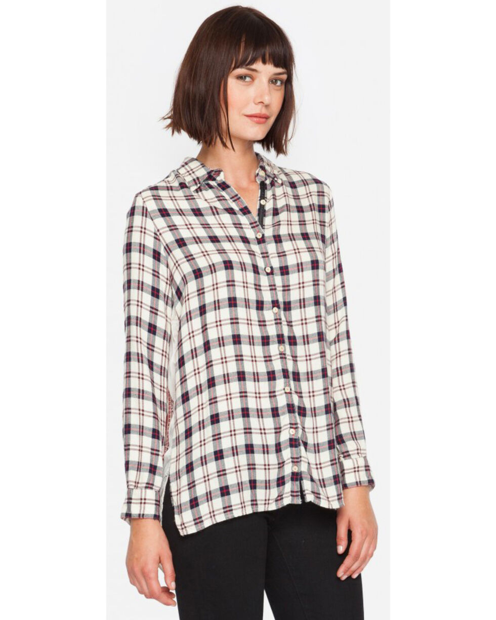3J Workshop Plaid Taurine Smock Back Top, Multi, hi-res