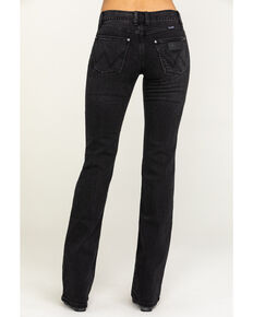 Wrangler Retro Women's Black Mae Boot Cut Jeans , Blue, hi-res
