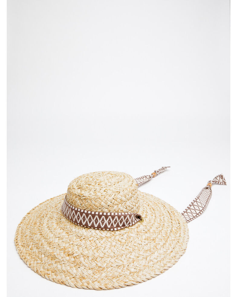 Shyanne Women's Natural O Natasha Raffia Straw Western Hat , Natural, hi-res