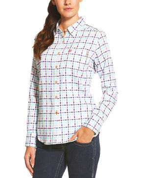 Ariat Women's  Juliet Long Sleeve Work Shirt, Purple, hi-res