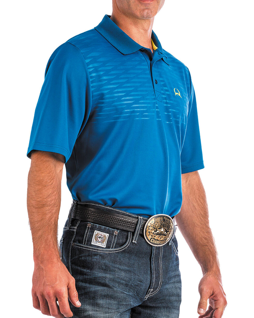 Cinch Men's ArenaFlex Blue Tech Polo, Blue, hi-res
