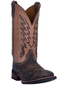 Laredo Men's Dalton Western Boots - Wide Square Toe, Tan, hi-res