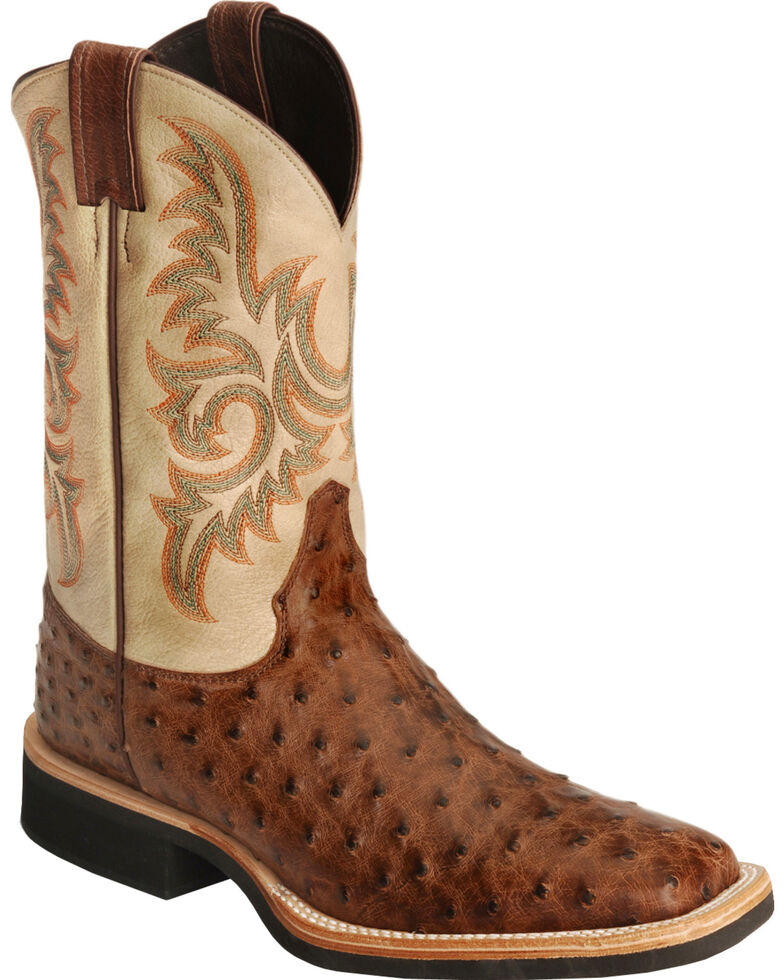 449a62c8117 Justin Men's Full Quill Ostrich Western Boots