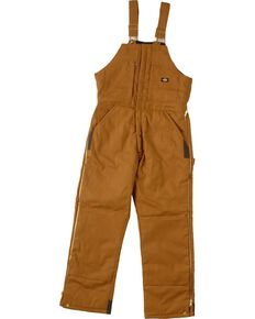 Dickies Duck Insulated Bib Overalls, Brown Duck, hi-res