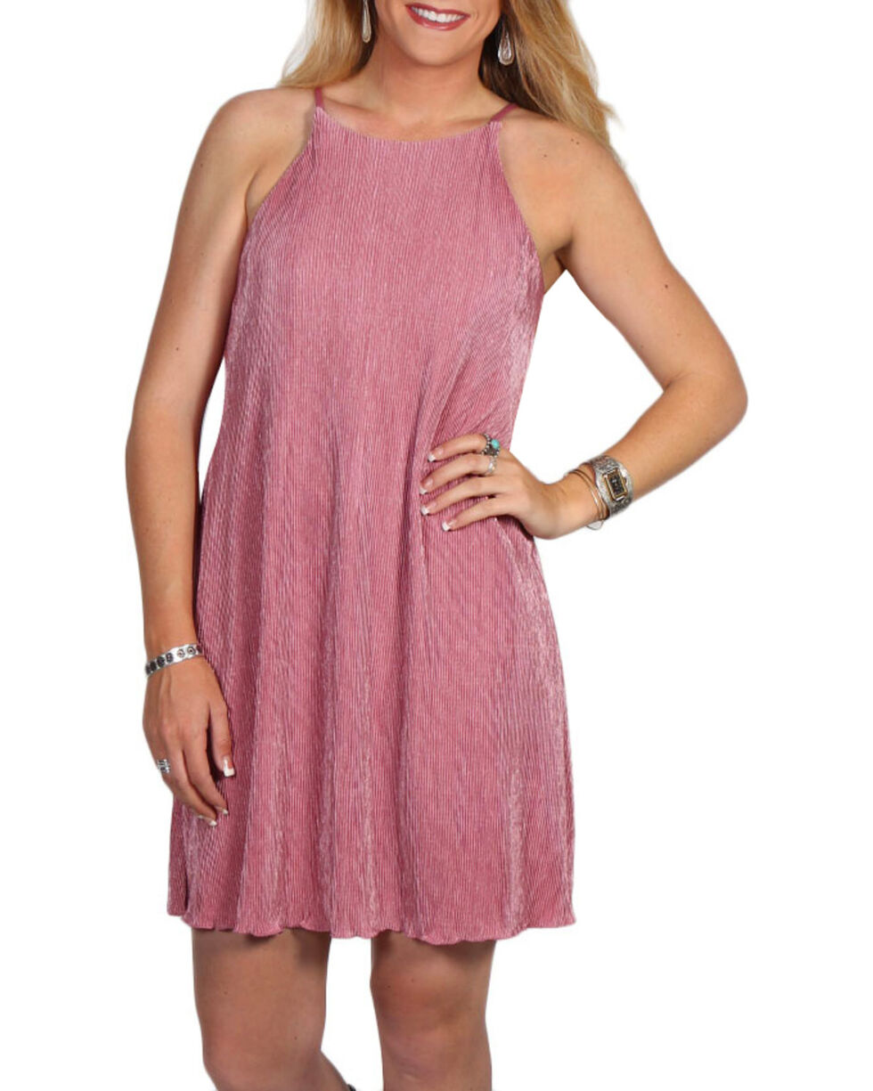 Golden Touch Women's Strappy Dress, Mauve, hi-res