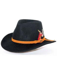 Outback Unisex Randwick Tassy Crusher Hat, Black, hi-res