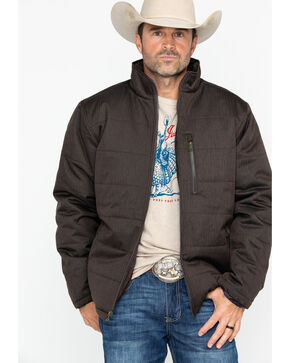 Cody James® Men's Alpine Hooded Jacket, Brown, hi-res