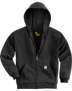 Carhartt Men's Midweight Hooded Zip-Front Sweatshirt, Black, hi-res